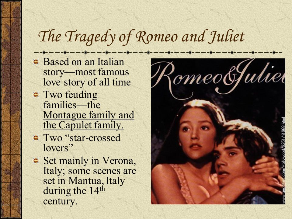 "the theme of tragic love in romeo and juliet by shakespeare The theme of death in romeo and juliet essay ""romeo juliet"" is one of the most famous and enjoyed literary pieces of all time the play is written by the playwright william shakespeare and it conveys the tragic love story of two star-cross'd lovers with a remarkably beautiful language."