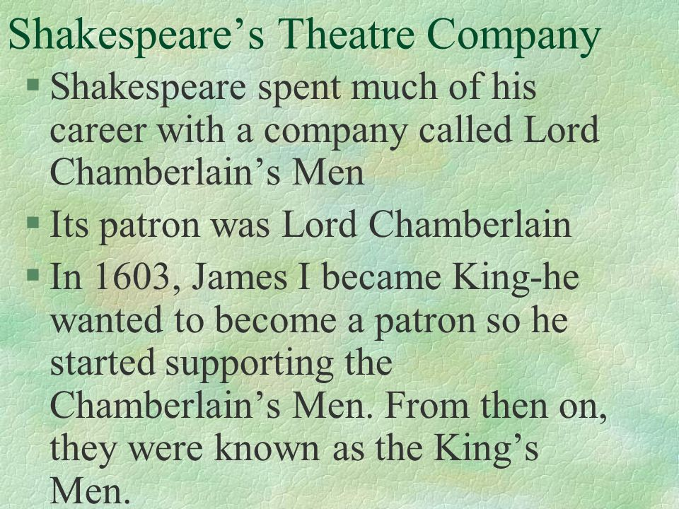 the importance of the audience of the shakespearean theater during the elizabethan age In shakespeare's time during shakespeare's time, the theater attracted up to 15,000 theatergoers a week in each student will develop one elizabethan-age.