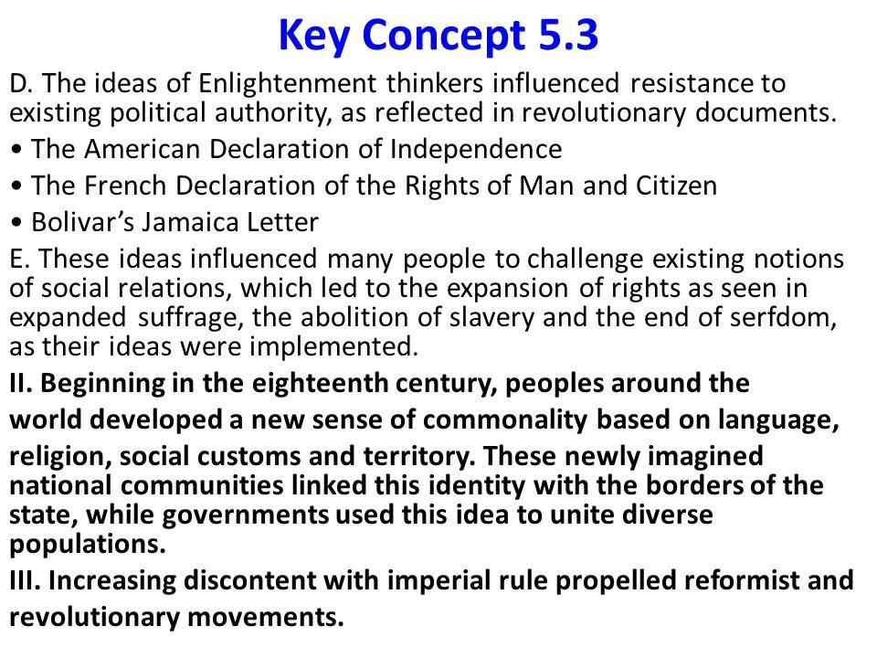 Bolivar S Jamaica Letter Enlightenment Ideas
