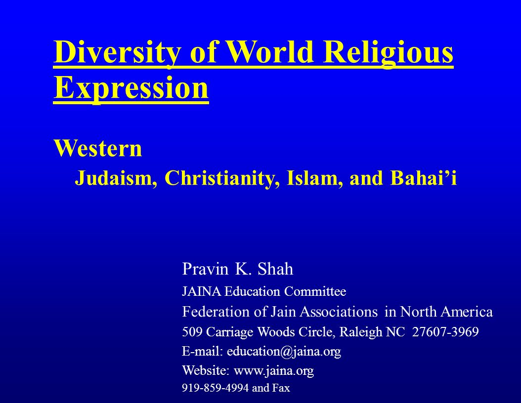 islam christianity judaism and cultural diversity