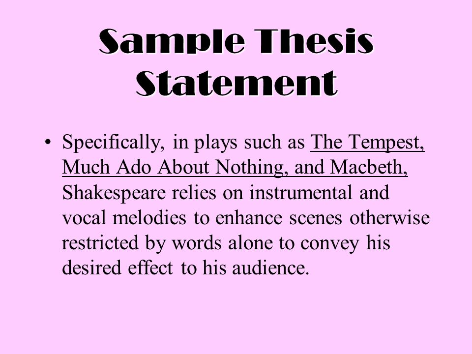 Constructing a thesis statement