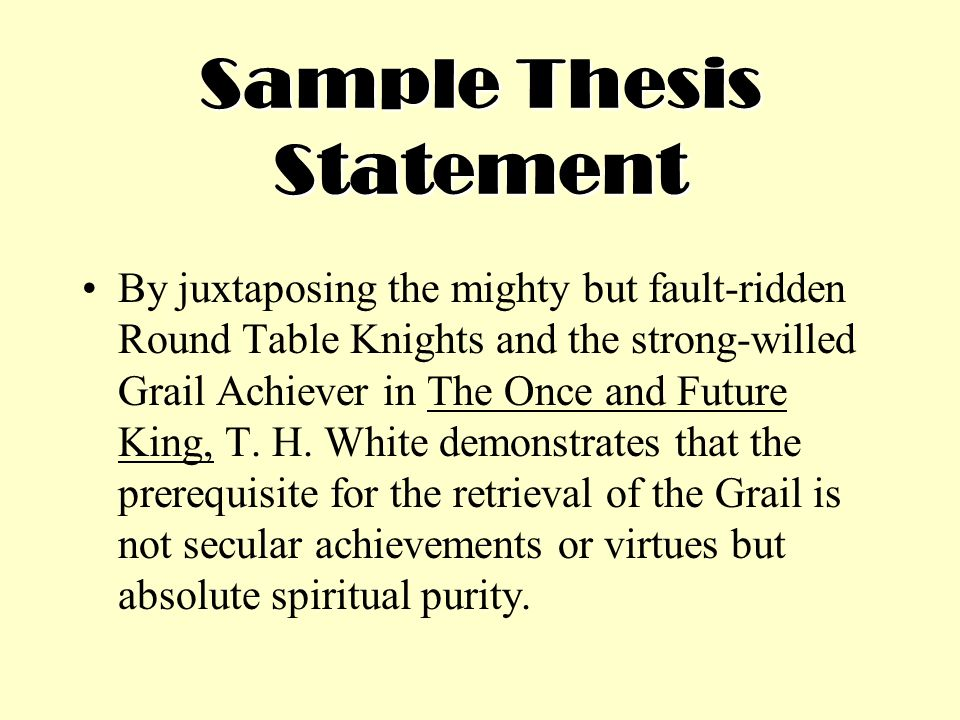 three components of a thesis statement 3 creating a thesis statement & outline iwhat is a thesis statement a thesis statement is usually a sentence that states your argument to the reader.