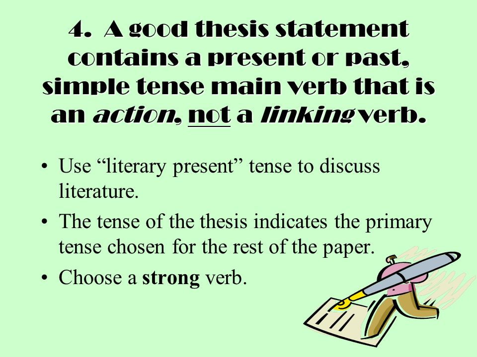 thesis past tense or present tense