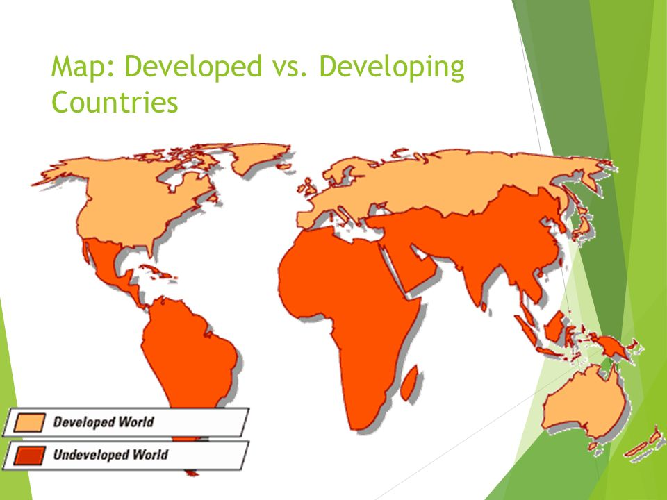 Map: Developed vs. Developing Countries