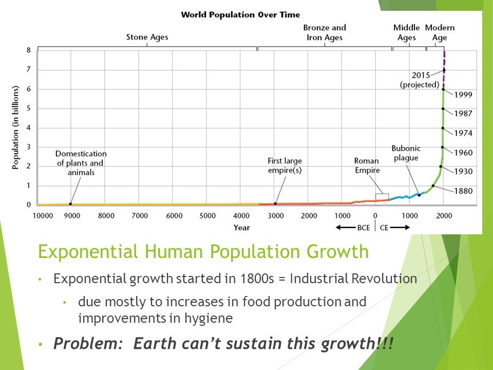 Exponential Human Population Growth