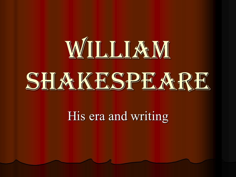 shakespeare type of writing Examples of poems can be found in these three main genres of  shakespeare christine de pizan  find your favorite type of poetry by enjoying examples of all.