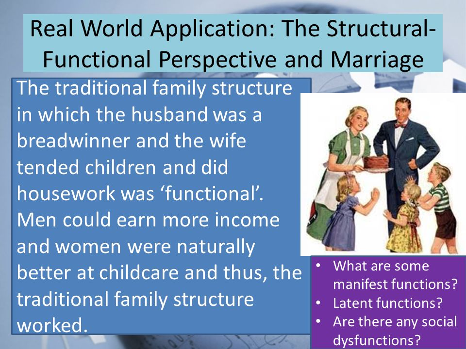 a look at the functions and normal structure of the family The traditional chinese family was a (1) patrilineal, (2) patriarchal, (3) prescriptively virilocal (4) kinship group (5) sharing a common household budget and (6) normatively extended in form this means that it ideally included a descent line of men and their wives and children.