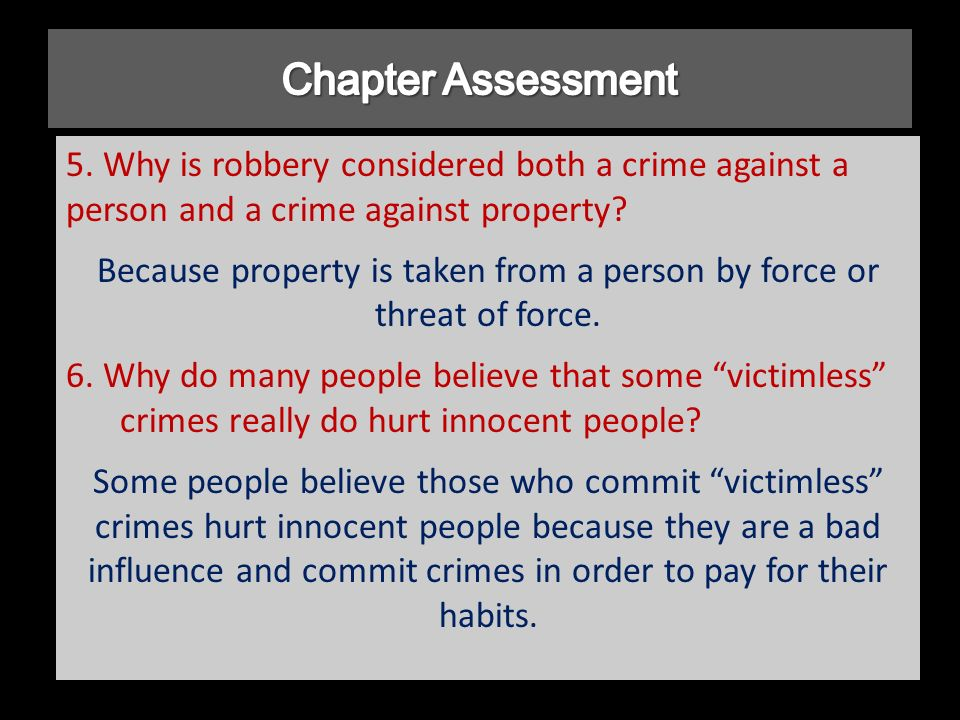 how would you explain the occurrence of crime and why people commit crime The age old question of why crime exists is one that will never cease while there are many theories that attempt to address and explain this phenomenon, two specific concepts stand out above the rest they involve the belief that the social environment is the main reason why individuals commit crime, and, secondly, crime occurs and is.