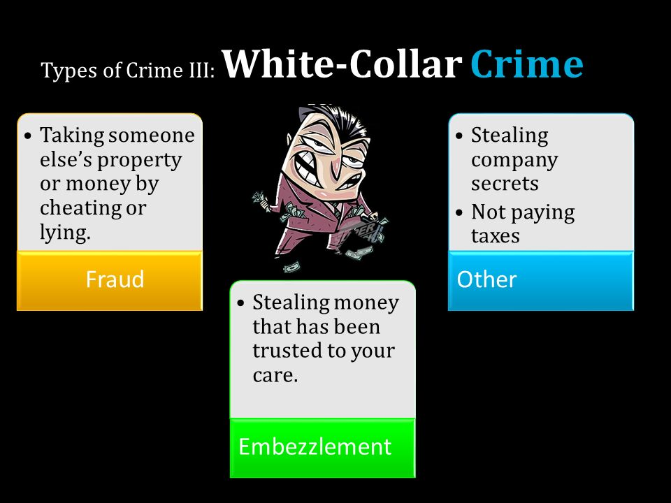 The most common types of white collar crime