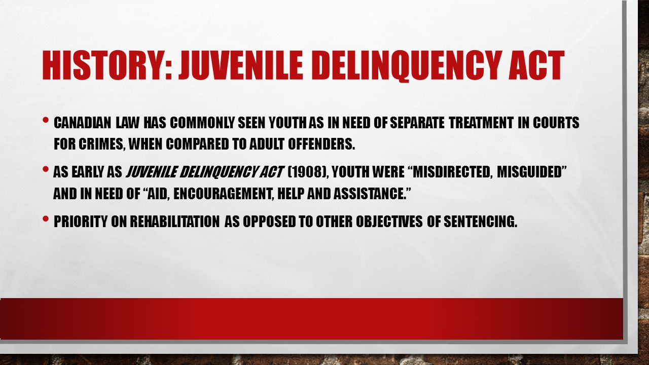 a summary of the young offenders act yoa in canada Youngsters from juvenile to adult courts in canada and the united states  tice  legislation, the young offenders act of 1984, after  ways, the yoa represents a  compromise between the child  a brief comparison of canadian and.