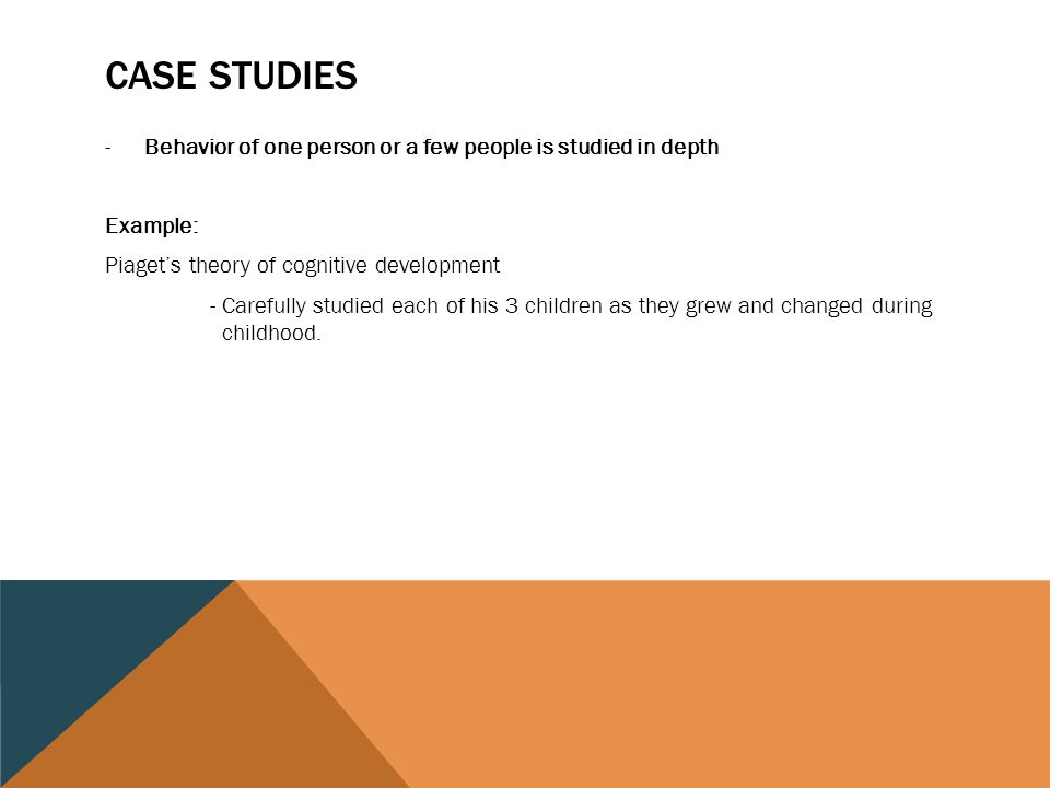 A case study on cognitive development