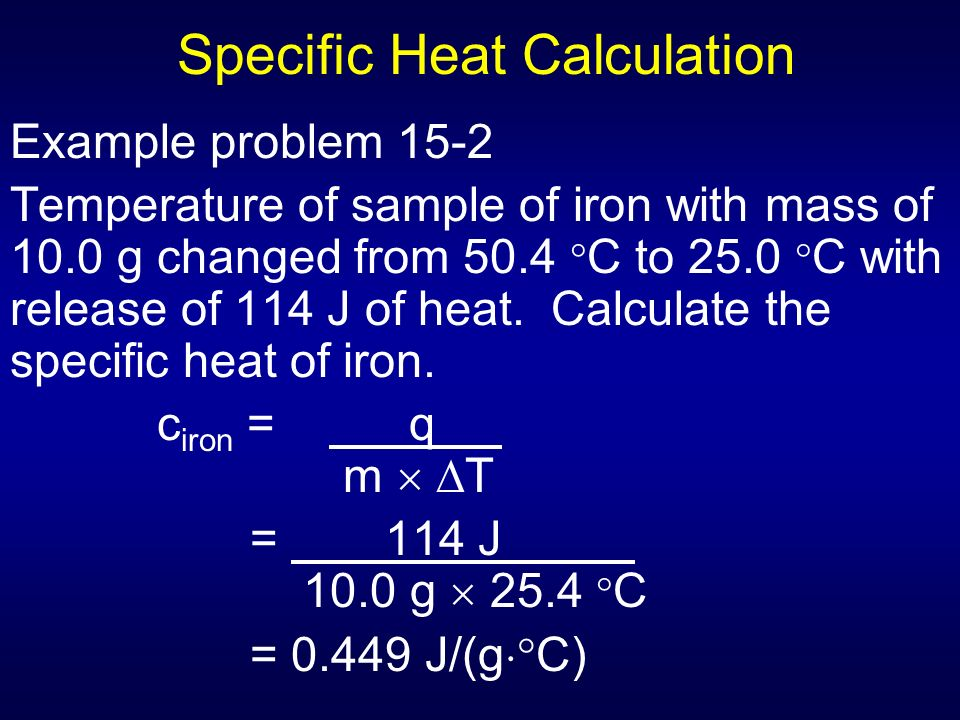 Chapt 15 energy chemical change ppt download for Specific heat table j gc