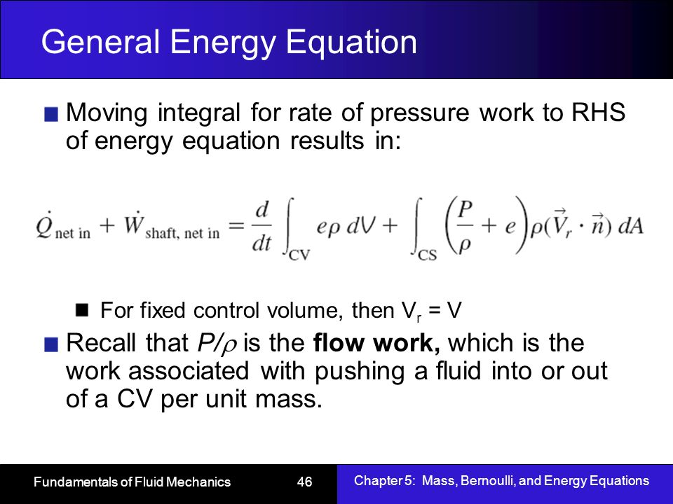 steady flow energy equation derivation pdf