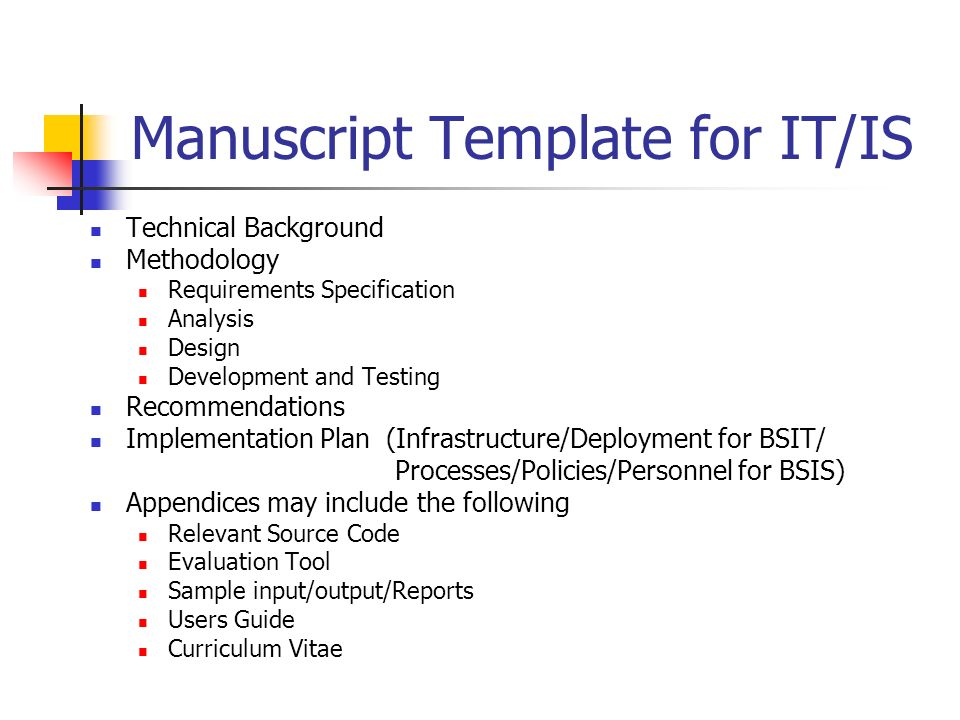 Framework for CS/IT/IS Undergraduate Thesis/Project ...
