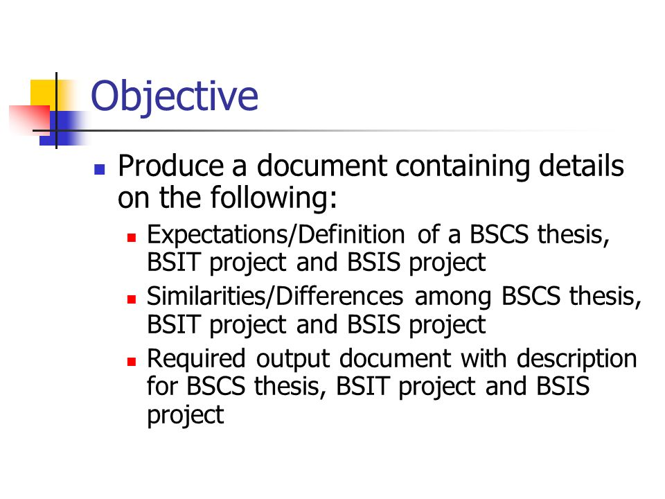 bscs thesis