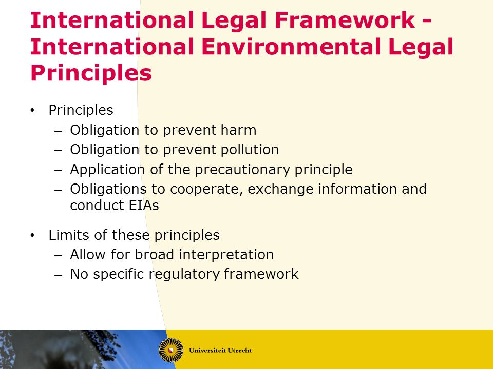 International Legal Framework - International Environmental Legal Principles