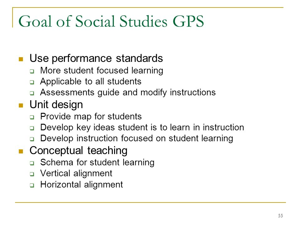 key goals in social studies Chapter-by-chapter answer key  4 c generalization is one of the goals of  or the degree to which individuals are tied to their social group, as a key.