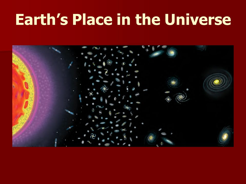 Earth's Place in the Universe