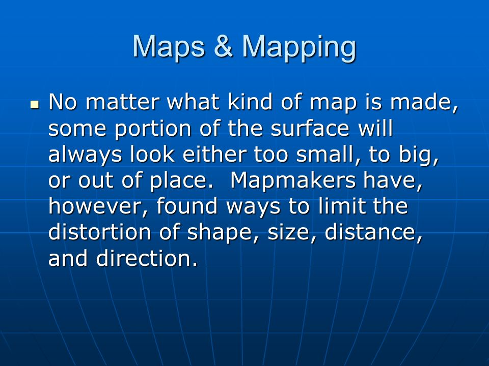 Maps & Mapping