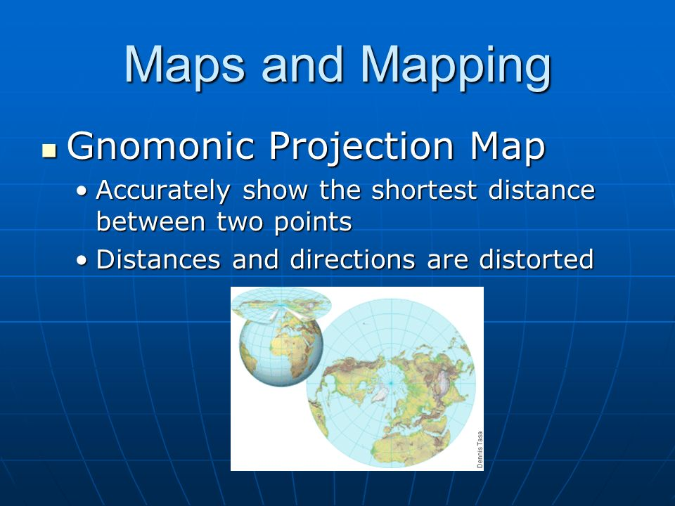 Maps and Mapping Gnomonic Projection Map