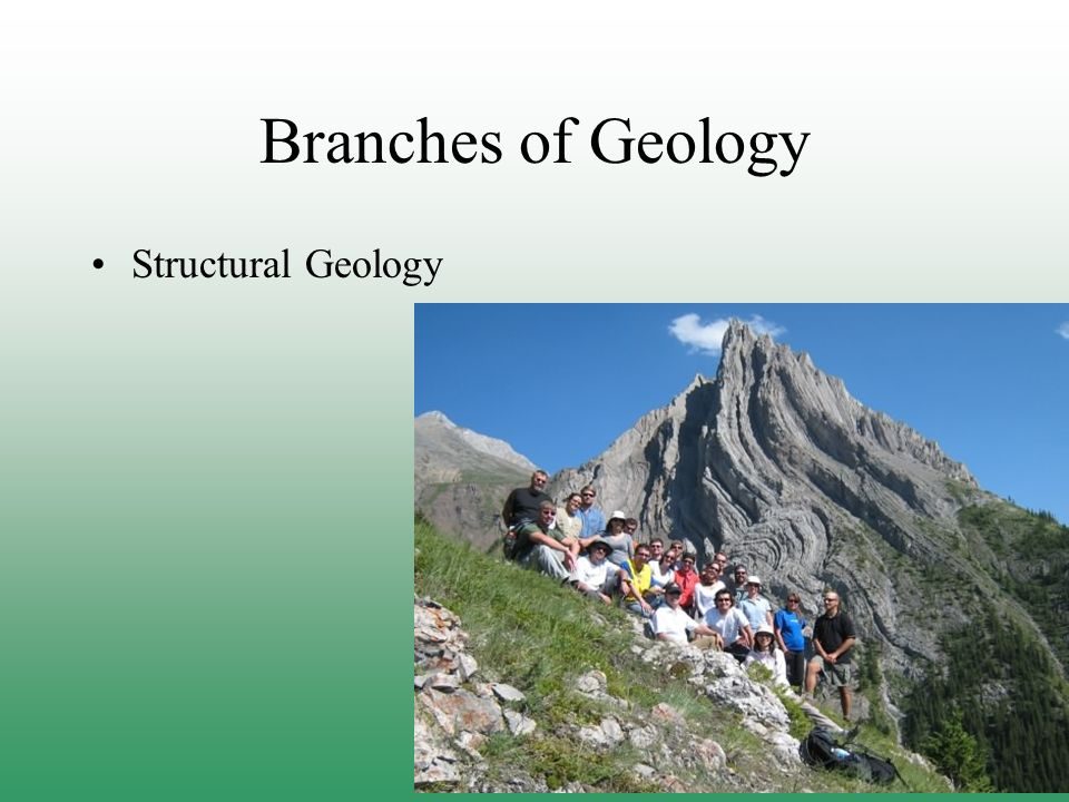 Branches of Geology Structural Geology