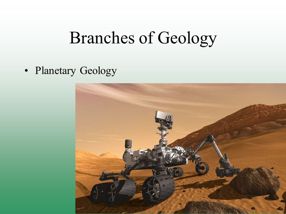 Branches of Geology Planetary Geology