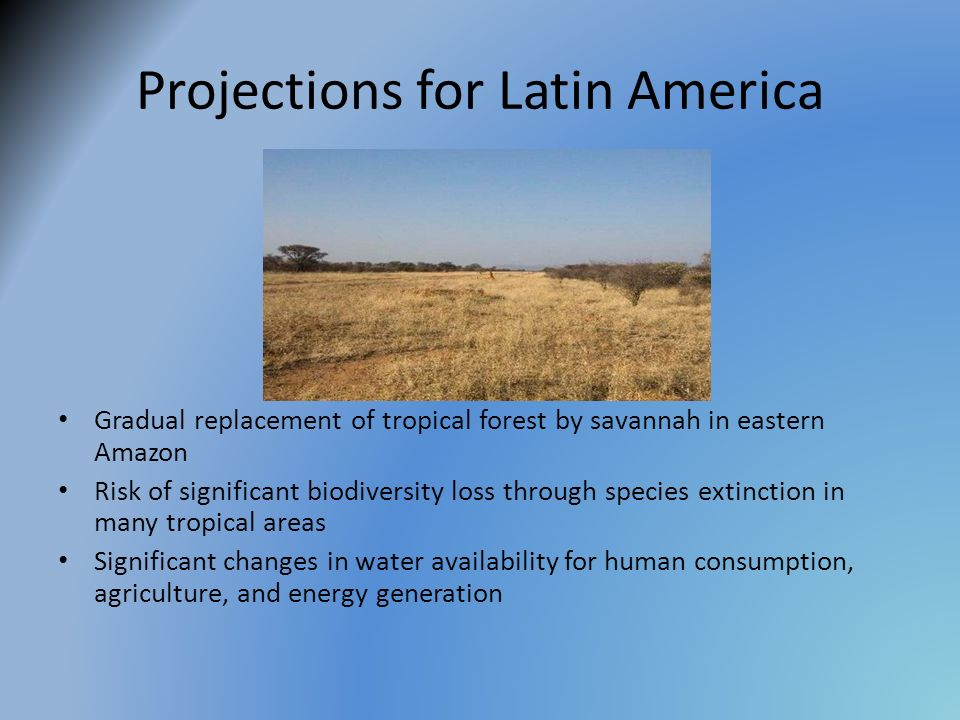 Projections for Latin America