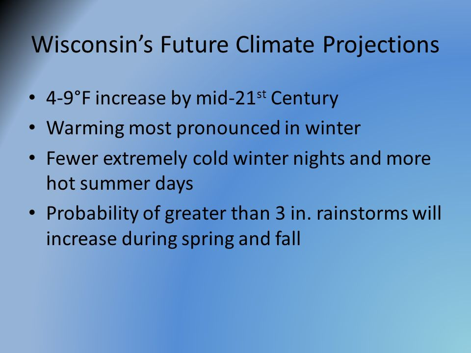 Wisconsin's Future Climate Projections