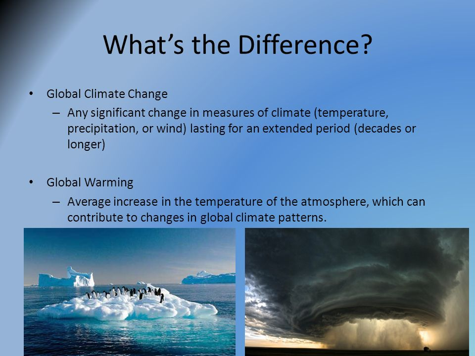What's the Difference Global Climate Change