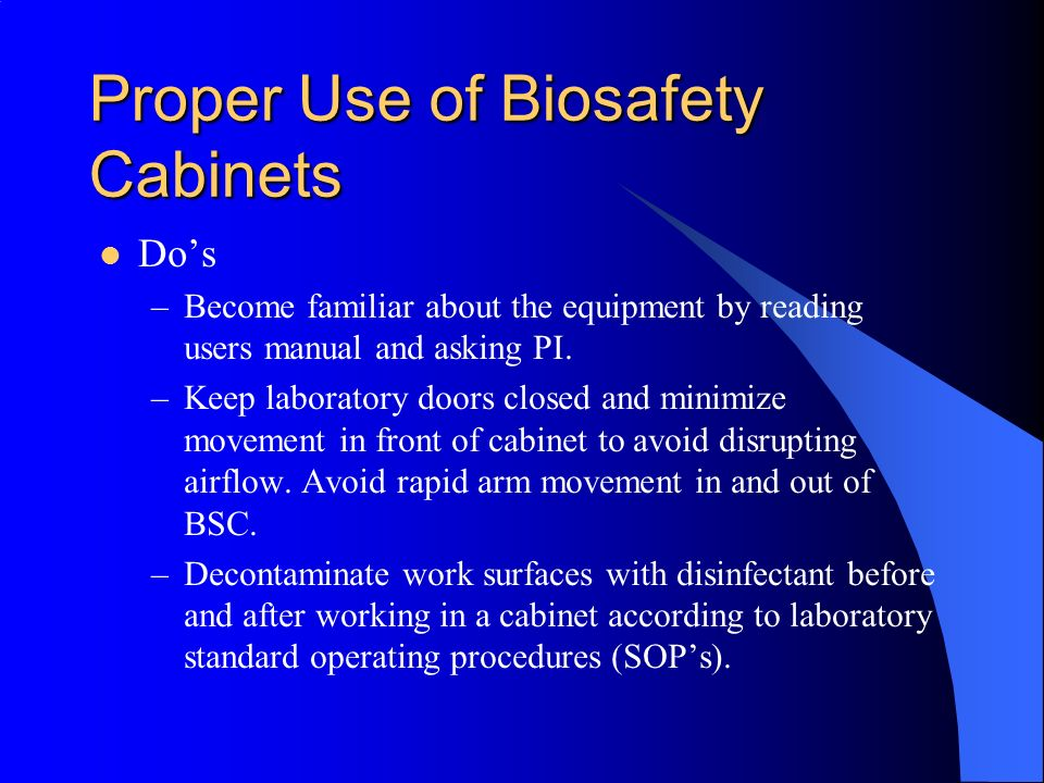 Biosafety in the Workplace - ppt download