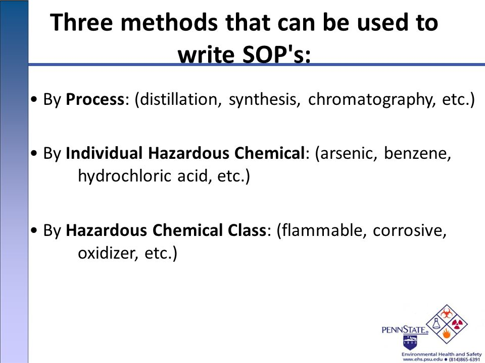 Three Methods That Can Be Used To Write SOP S: