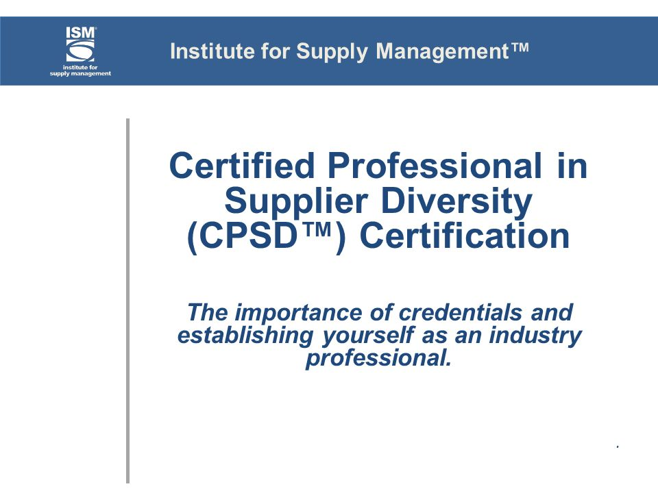 Institute for Supply Management™ - ppt video online download