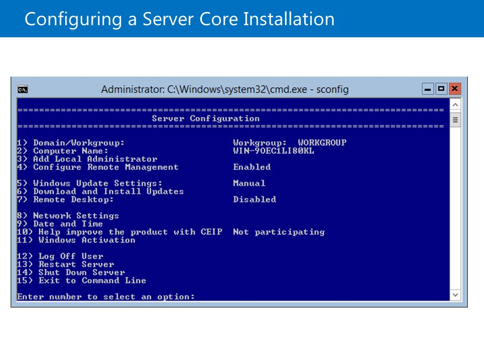 restart a server 2012