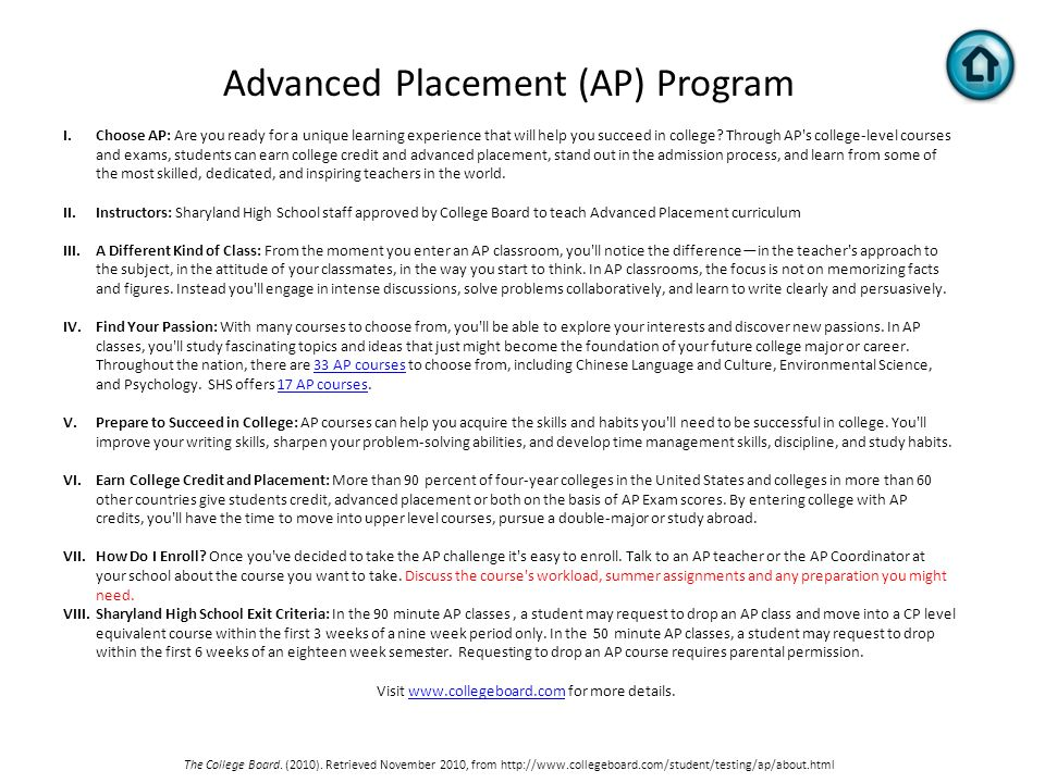 essay for advanced placement classes Home resources study skills advanced placement (ap) classes the advanced placement advantage the advanced placement placement (ap) classes college essays.