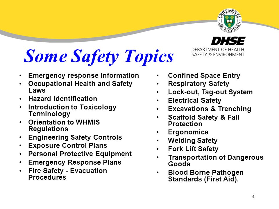Safety presentation topics - Diagnosing Challenges