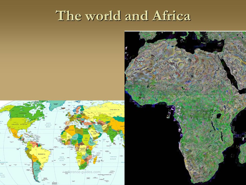 The world and Africa