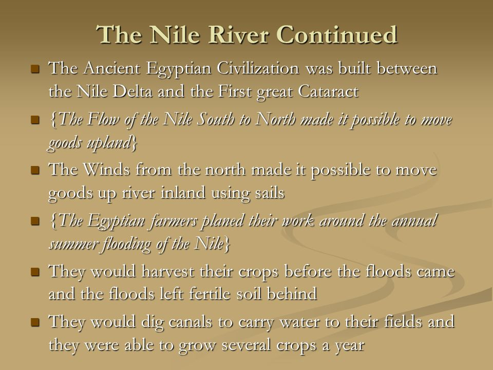 The Nile River Continued