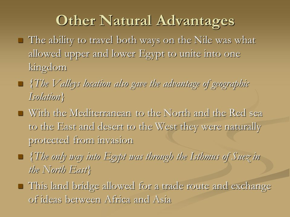 Other Natural Advantages