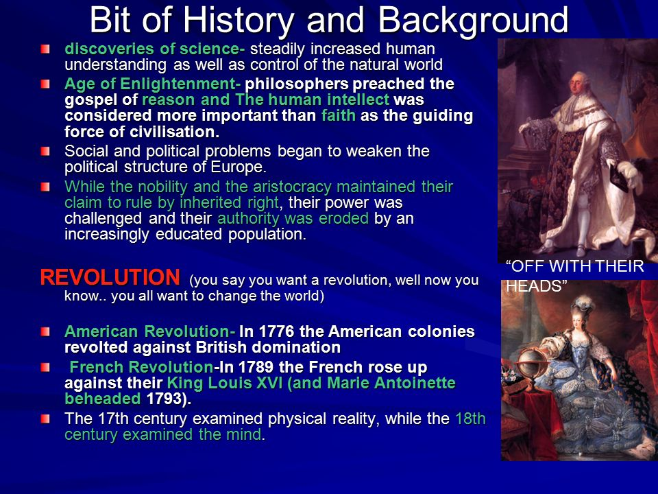 a comparison of 17th century english revolution and 18th century french revolution The french revolution  over the course of the 18th century,  habermas argued that the dominant cultural model in 17th century france was a .