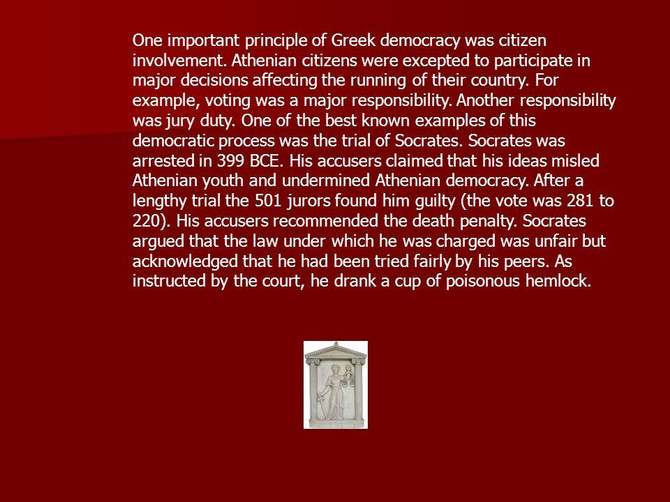 socrates first accusers and the athenian law Plato's account of socrates' defense elucidates some main principles of the   how does socrates show that he does not corrupt the young people of athens   that if euathlus won his first case, he would pay protagoras, otherwise not  and  exhibits the often observed irony as he plays with his accusers.