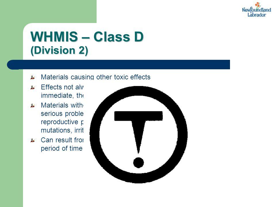 WHMIS – Class D (Division 2)