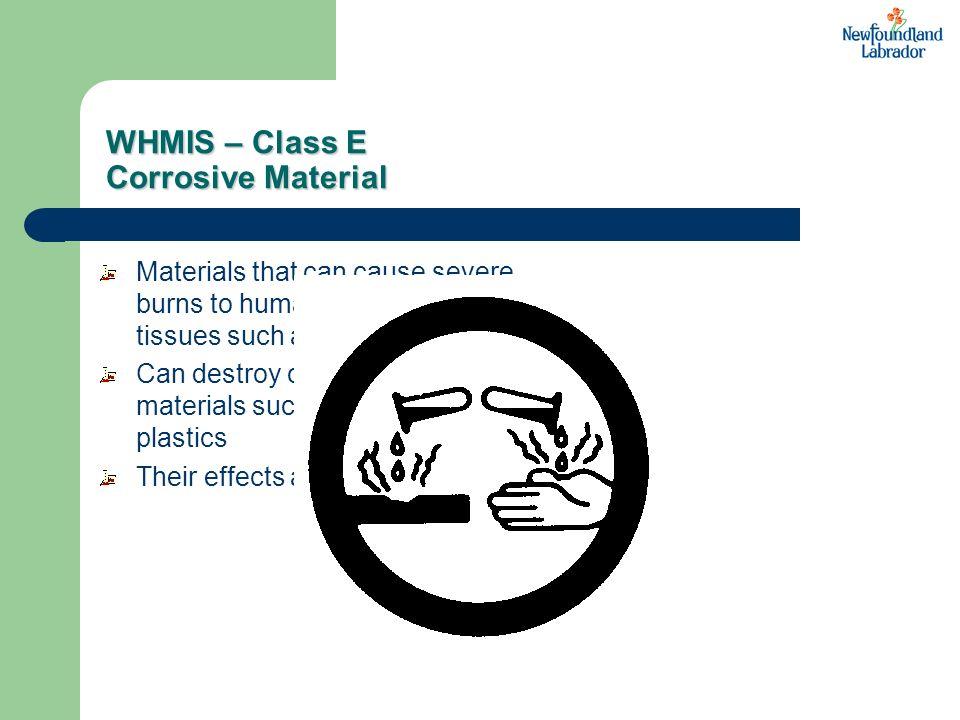 WHMIS – Class E Corrosive Material