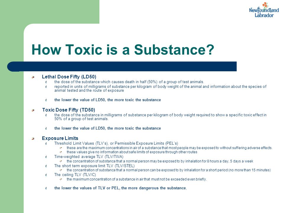 How Toxic is a Substance