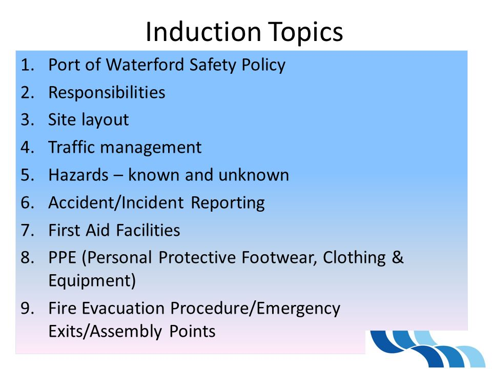Contractors Visitors Health Amp Safety Induction Ppt Video