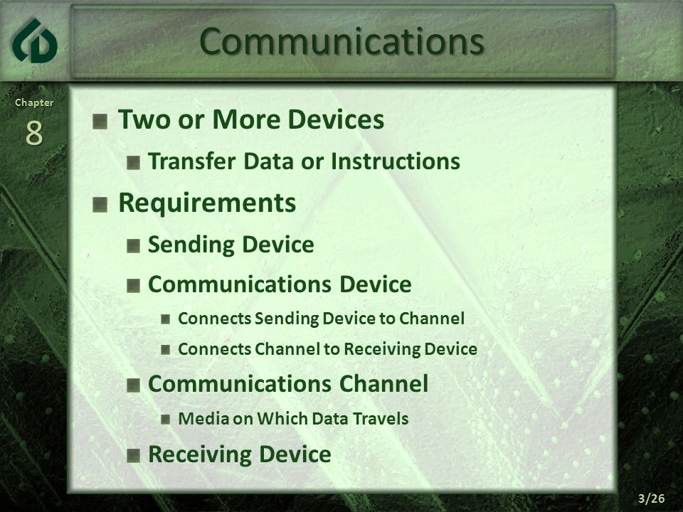 Communications Two or More Devices Requirements