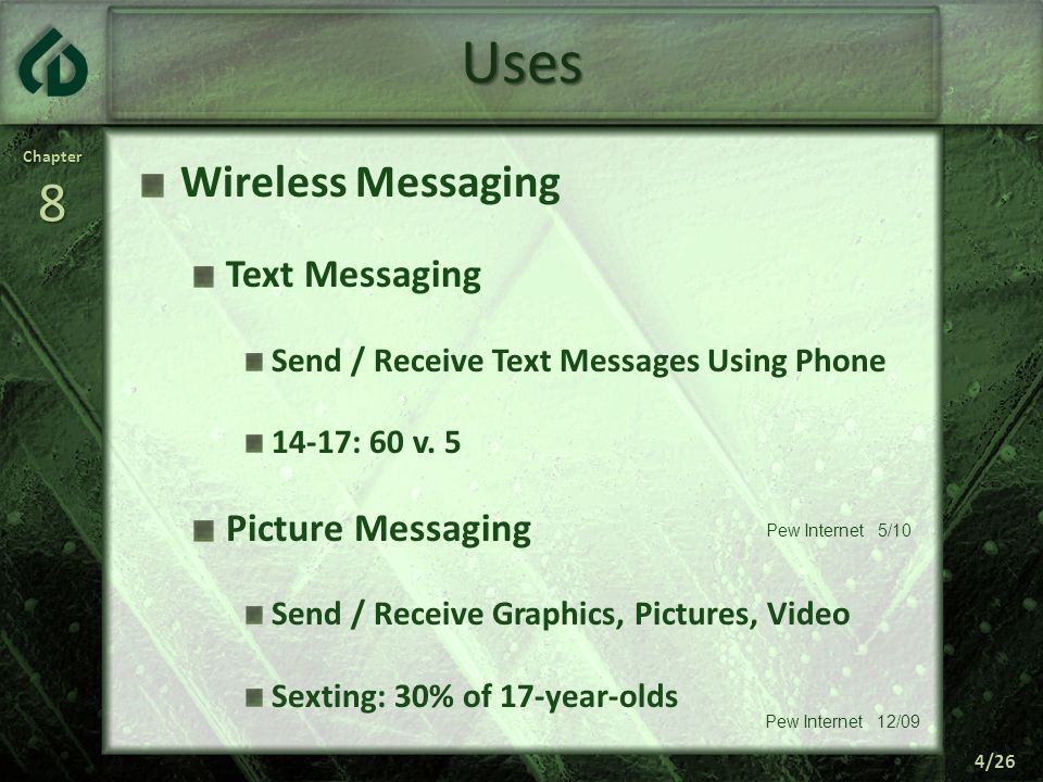 Uses Wireless Messaging Text Messaging Picture Messaging