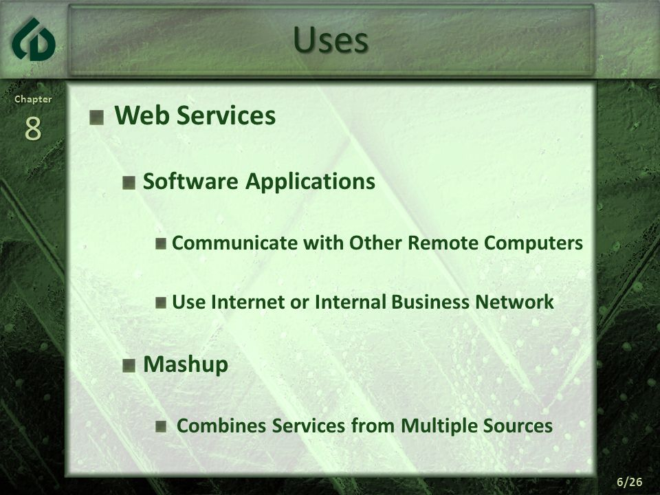 Uses Web Services Software Applications Mashup