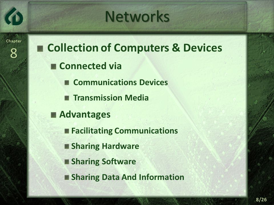 Networks Collection of Computers & Devices Connected via Advantages