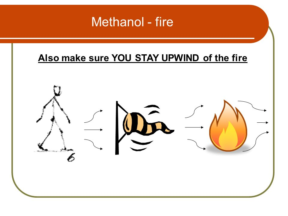 Also make sure YOU STAY UPWIND of the fire