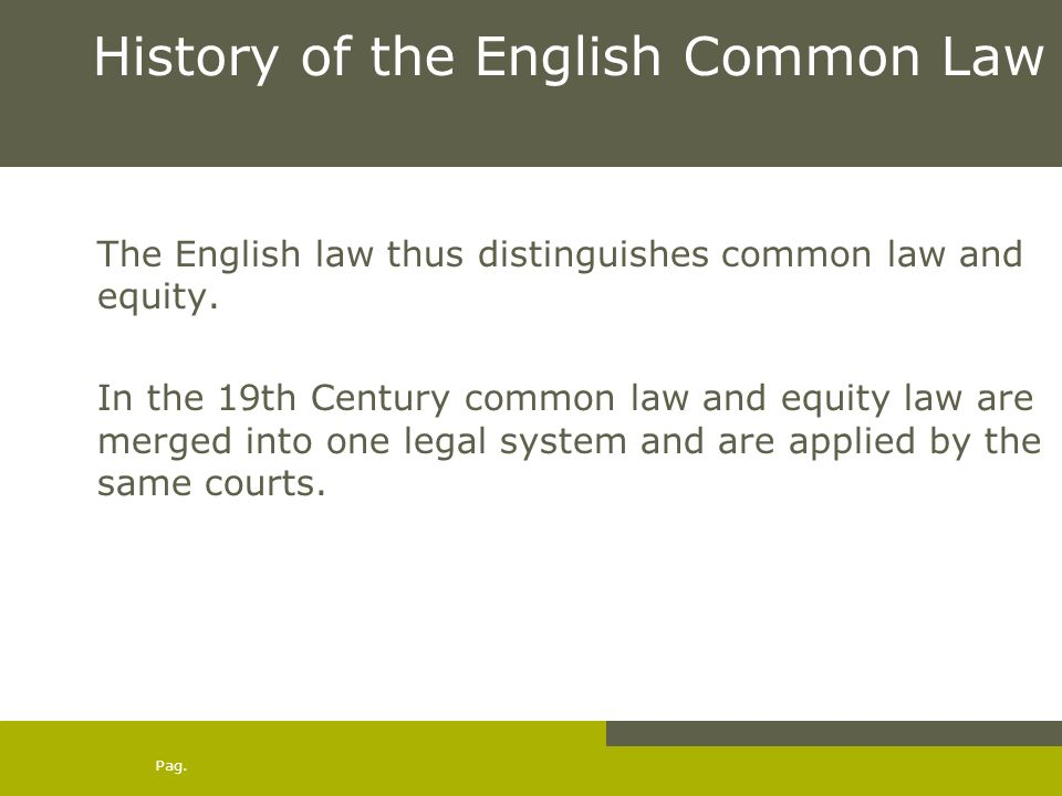 Common Law and Equity